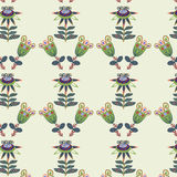 Colorful floral seamless vintage pattern and seamless pattern in Stock Image