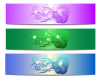 Colorful Floral Shape Vector Banner Stock Photography