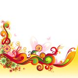 Colorful Floral Swirl Stock Images