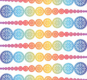 Colorful floral of Thai pattern background Stock Image