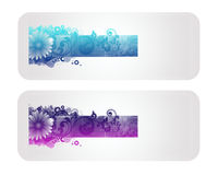 Colorful Floral Vector Banner. And Backround Royalty Free Stock Photography