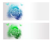Colorful Floral Vector Banner. And Backround Royalty Free Stock Photos