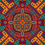 Colorful floral vector ethnic tribal pattern Royalty Free Stock Photo
