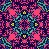 Colorful Floral Vector Pattern Stock Photos