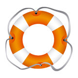 Colorful flotation hoop with lasso Royalty Free Stock Images