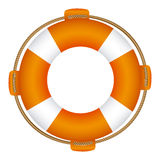 Colorful flotation hoop with rope Royalty Free Stock Images