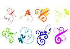 Colorful Flourish Vector Royalty Free Stock Image