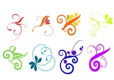 Colorful Flourish Vector Royalty Free Stock Image