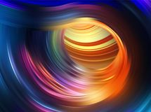 Colorful flow background. Realistic swirl tunnel. Colorful flow background. Realistic liquid wave as funnel. Color tornado top view. Swirl tunnel drop down vector illustration
