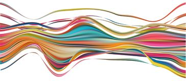 Free Colorful Flow Brush Stroke. Ribbon Isolated Line Royalty Free Stock Image - 143552876