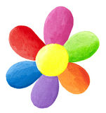 Colorful flower. Acrylic illustration of colorful flower Stock Photography