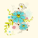 Colorful Flower. Vector illustration of colorful flower against white background Stock Photography