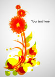 Colorful flower. Cool bright abstract flower, EPS10 vector Royalty Free Stock Image