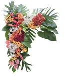 Colorful flower arrangement. Decoration isolated on white background Stock Photos