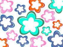 Colorful flower background. Vector illustration of colorful flowers Stock Photo