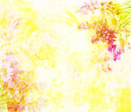 Colorful flower background made ​​with color filters. Watercolor composition royalty free stock photos