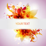 Colorful flower banner Royalty Free Stock Photography