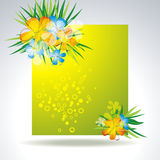 Colorful flower in banner Royalty Free Stock Photography
