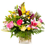 Colorful flower bouquet arrangement centerpiece