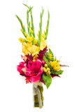 Colorful flower bouquet arrangement centerpiece. From gladioluses isolated on white background Royalty Free Stock Images