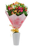 Colorful flower bouquet arrangement centerpiece isolated Royalty Free Stock Photo