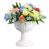 Colorful flower bouquet arrangement centerpiece in vase isolated Stock Photos