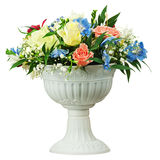 Colorful flower bouquet arrangement centerpiece in vase isolated Royalty Free Stock Photo