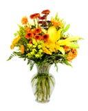 Colorful flower bouquet arrangement in vase stock image