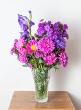 Colorful flower bouquet arrangement in vase Stock Image