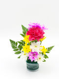 Colorful flower bouquet arrangement in vase Royalty Free Stock Image