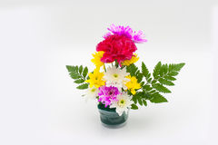 Colorful flower bouquet arrangement in vase Royalty Free Stock Images