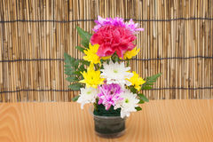 Colorful flower bouquet arrangement in vase Stock Photography