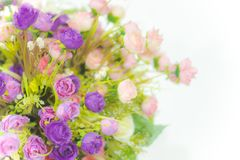 The colorful flower in bouquet. The colorful flower for interior decoration for the home we love Stock Photo