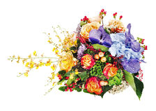 Colorful flower bouquet isolated on white background. Stock Image