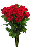 Colorful flower bouquet from red roses isolated on white backgro. Und. Closeup royalty free stock photos