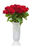 Colorful flower bouquet from red roses isolated on white background. Royalty Free Stock Images