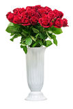 Colorful flower bouquet from red roses isolated on white background. Royalty Free Stock Photos