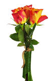 Colorful flower bouquet from roses isolated on white background. Royalty Free Stock Photo