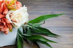 Colorful flower bouquet on the table Royalty Free Stock Photography