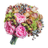 Colorful flower bouquet on white background. stock photos