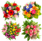 Colorful flower bouquets for Birthday, Wedding Royalty Free Stock Photos