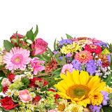 Colorful flower bouquets. Bouquets for wedding, birthday or other festivity royalty free stock image