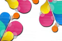 Colorful flower bubble, abstract background Stock Photo