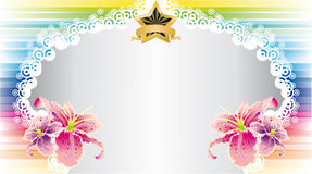 Colorful Flower Card Royalty Free Stock Photos