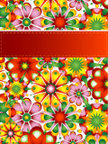 Colorful flower card Stock Images