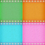 Colorful flower card board texture Stock Image