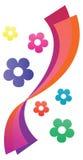 Colorful Flower Curtain Stock Photos