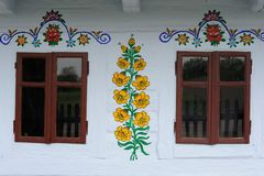 Colorful flower decorative paintings in Zalipie Village in Poland. Colorful flower decorative paintings in Zalipie Village made by local artists royalty free stock photo
