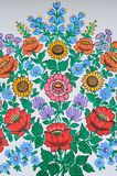 Colorful flower decorative paintings in Zalipie Village in Poland. Colorful flower decorative paintings in Zalipie Village made by local artists stock image
