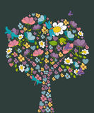 Spring tree flower shape Stock Photos